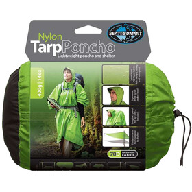 Sea to Summit Nylon Tarp Poncho Waterproof Green